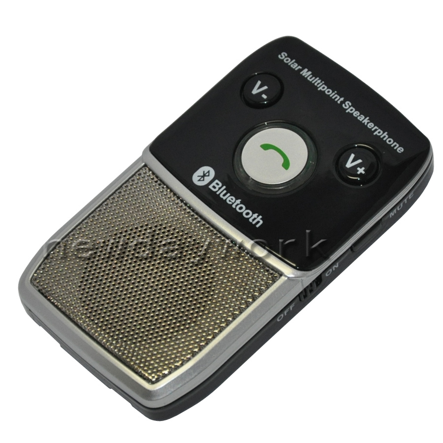 Solar power bluetooth Handsfree car kit for Iphone 5 HTC Nokia Motorola Samsung(China (Mainland))
