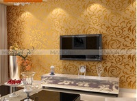 Free shipping 3D Home Decoration Wallpaper 10M * 0.53 M Promotional PVC Material Wallpaper