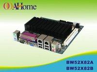 OO Ahome ITX BW52X82B Intel Atom D525 ,VGA+18Bit LVDS,12V DC,8COM,2Giga LAN,Mini ITX Motherboard,12V DC