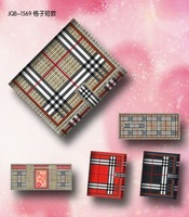 Boutique cross-stitch wallet three-fold plaid short design lovers design wallet embroidered cloth croppings finished products