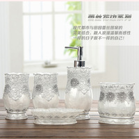 Lace temptation resin bathroom set of five pieces bathroom supplies kit wash set shukoubei