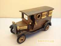 Free shipping Vintage patrol wagon prison van model handmade collection ornaments