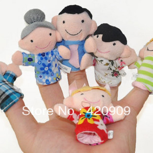 Free shipping, Develop baby's intelligence, cultivate the parent-child relationship.100%Brand Family Finger puppets Cloth toy(China (Mainland))