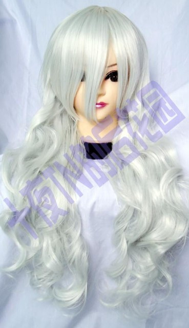 Silver roll of tn-80 high temperature queen cos wig(China (Mainland))