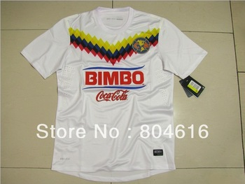2013  new high thailand quality mexico america football soccer jerseys club kits shirt third away white socer jerseys wholesale