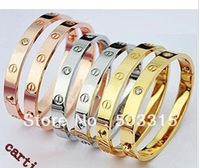 wholesale fashion rose gold plate bangle bracelet 925 Silver mix 6pcs