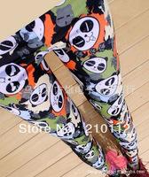 Korean styles Graffiti love panda Milk Silk Leggings for Women Slim Legwear Pants BS158