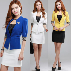 2013 summer fashion work wear uniform suits women's skirt women's sets free shipping(China (Mainland))