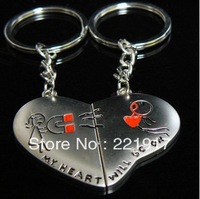Min. Order is $10 ( Can Mix order )!   Love house couple keychains magnetic attraction and love