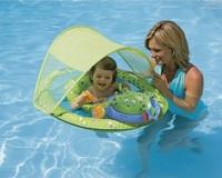 Swimways child baby swim ring folding belt anti-uv awning