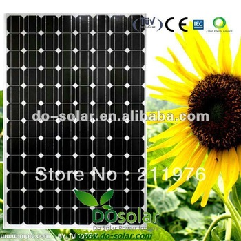 Free Shipping-- 245W MONO Solar Panel with 96PCS of mono 125 cells for solar power system in stock