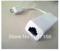 Free Shipping High Quality White Long 15cm 10M/100M Micro USB To RJ45 LAN Ethernet Network Adapter For Tablet PC(Android ) 1Pcs