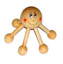 Wooden massage device head massage device heliocalm smiley