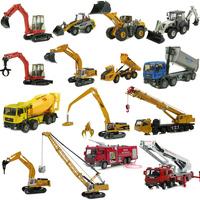 Alloy engineering car toy excavator mining machine car crane fire truck car model