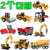 Scale Models Cars Pixar Brinquedos Meninos Fashion Luxury Full Alloy Engineering Sign Toy Mining Machine Bulldozer Road Roller