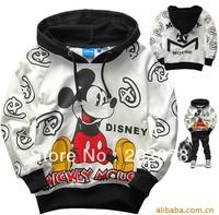 Children kids long-sleeved t-shirt cartoon Mickey Minnie Hello kitty cat Vig Tho car locom As Boy 6pcs/lot free shipping
