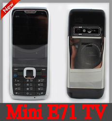 NEW Unlocked GSM Quad Band Dual SIM Mini E71 TV Mobile Phone.Russian language (Russian keyboard) and Polish(China (Mainland))