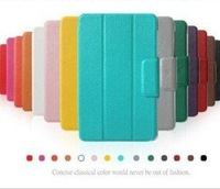 Free shipping 11colors choose PU Leather case Smart stand Cover case  for Google Nexus7