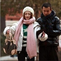 New arrival icelandic wool scarf autumn and winter female yarn muffler scarf thermal winter