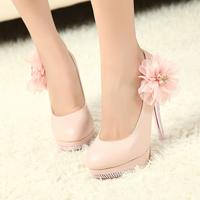 Hot-selling,NEW Luxury Sexy Romantic Flower Women's Platform Pumps Stilettos Wedding High Heels Shoes Free ShippingCH262