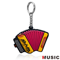Free Shipping Exquisite accordion eco-friendly music keychain soft