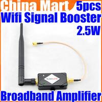 2.4g Wireless 2.5W 34DBm Wifi Broadband Amplifier Signal Booster 802.11 B/G/N Free Express 5pcs/lot
