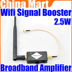 2.4g Wireless 2.5W 34DBm Wifi Broadband Amplifier Signal Booster 802.11 B/G/N Free Shipping + Drop Shipping(China (Mainland))