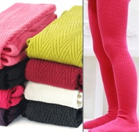 3 4 5 - - - - 6 7 spring and autumn female child 100% cotton candy color pantyhose child thickening legging