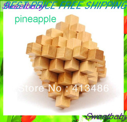 free shipping wooden Ball IQ Brain Toy adult kids intelligent puzzle toy educational pineapple wooden toy(China (Mainland))