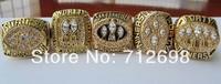 A Set NFL San Francisco 49ers XVI XIX XXIII XXIV XXIX Super Bowl championship Ring Size 11 US best gift for fans Collection 5pcs