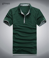Hight quality fashion cotton casual turn down collar t-shirt men spring latest short sleeve leisure plus size male shirt MT1617