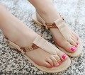 Womens Hot-selling beach sandals flip-flop casual belt women's comfortable flat plus size 34-43 slippers&sandals Free Shipping