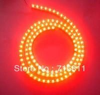 Free Shipping Flexible Waterproof 72 LED bulb 72cm Car light strip