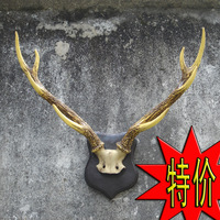 Wall deer background wall hangings accessories staghorns resin fashion muons home decoration wall stickers