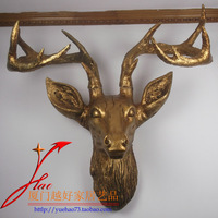 Home decoration bar hangings wall deer staghorns resin craft muons extra large
