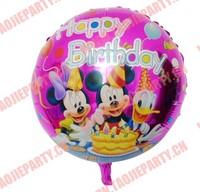 New cartoon designs18 inches happy birthday balloons
