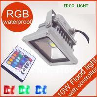 Free Shipping 10W 16 Color RGB Flash Landscape LED Flood light Outdoor Waterproof Floodlight 85V-265V 1 Year Warranty!
