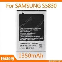 Battery For Samsung S5830 5830 EB494358VU Galaxy Ace Batteries 1350mAh 100Pcs/Lot