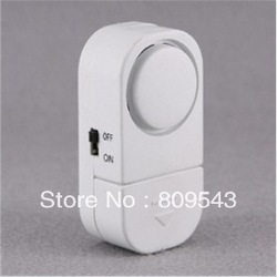Free Shipping Home Security Alarm Wireless Sensor Door Window Entry Burglar Alarm Bell (White)(China (Mainland))