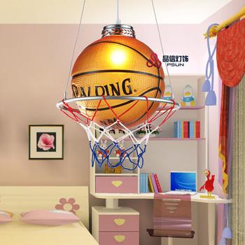Basketball lamp single-head glass ball pendant light real child bedroom lamps lighting 6780