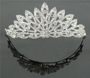 2013 new wedding hair accessories rhinestone pageant crown Weddings & Proms tiaras hair accessories free shipping