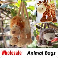 Lovely Cartoon Animal Handbag Soft Pet Shaped Cute Totes Plush bag