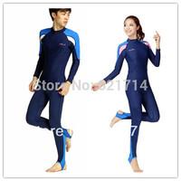 Aureateness clothing submersible service sun protection clothing split swimwear long-sleeve two-piece set