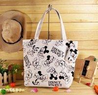 Hot asual bag! hot beach bag! canvas fabric shopping bag! totes! Mickey mouse shoulder bag! handbag!