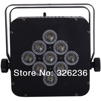 Wireless Rechargeable Battery Powered LED Par 9pcs*10W 4in1 Tri-color led flat ligtht for DJ DMX512,90V-240V led stage light