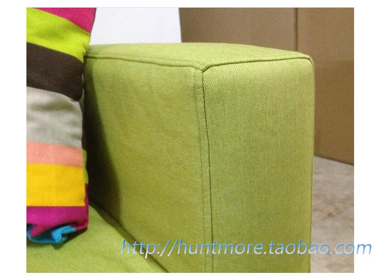 Green Linen Sofa Cover Slipcover Of Ikea Klobo Double Set Of Sofa Professional Customized