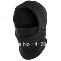 Free shipping: Autumn and winter outdoor double layer thickening fleece wigs ride mask windproof warm hat
