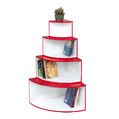 Plaid fan-shaped corner cabinet wall shelf wall mount shelf(China (Mainland))