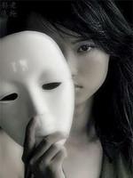 Halloween masquerade props beauty mask white mask hip-hop mask doodle mask