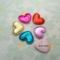 2000 Mix Color Fancy Shiny Heart Love Wedding Favor Applique 23mm x 20mm